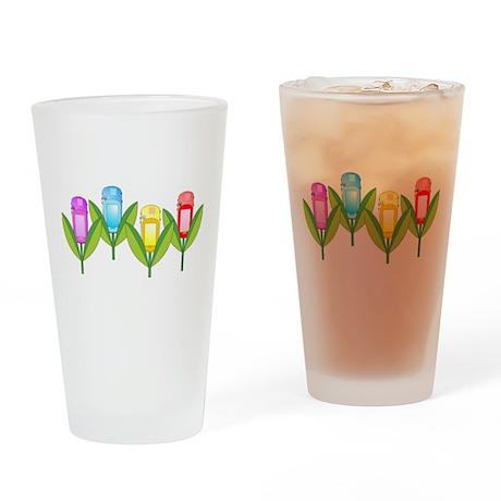 GPS Flowers Drinking Glass