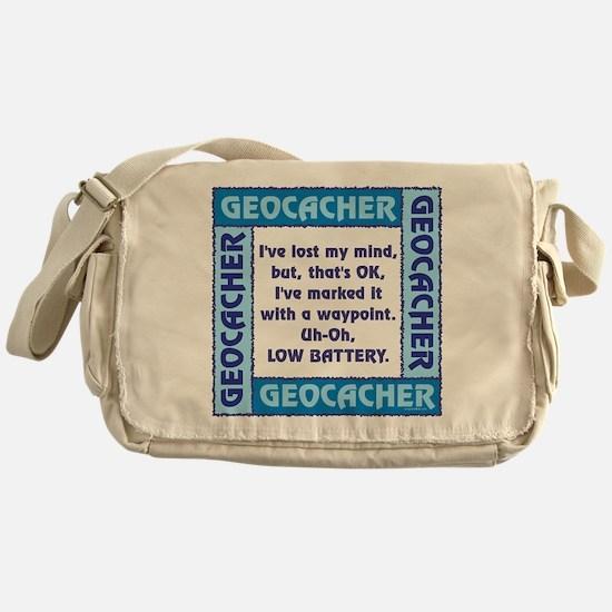 Blue Geocacher Lost Mind Messenger Bag