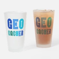 Geocacher Arrows Blue Drinking Glass