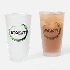 Green Geocacher Pizzaz Drinking Glass