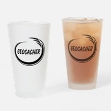 Black Geocacher Pizzaz Drinking Glass
