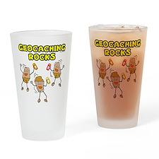 Geocaching Rocks Drinking Glass