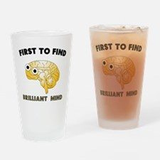 FTF Brain Drinking Glass