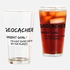 Geocacher Goals Drinking Glass