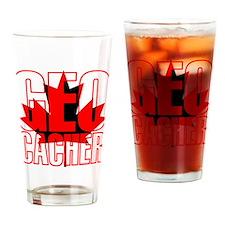 Maple Leaf Geocacher Drinking Glass