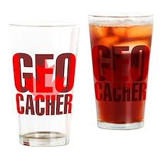 Canadian Geocacher Drinking Glass