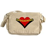Geocaching Heart Messenger Bag