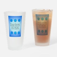 Geocaching Happy Holiday Drinking Glass