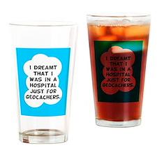 Geocaching Get Well Drinking Glass