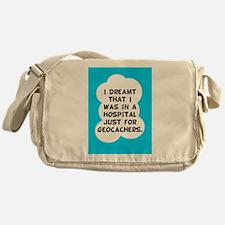 Geocaching Get Well Messenger Bag