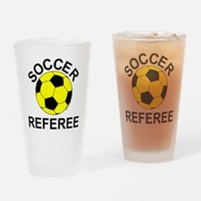 Soccer Referee Drinking Glass