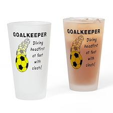 Soccer Goalkeeper Drinking Glass