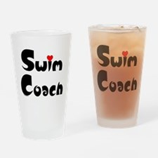 Swim Coach Heart Drinking Glass