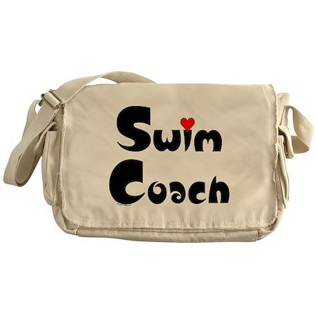 Swim Coach Heart Messenger Bag