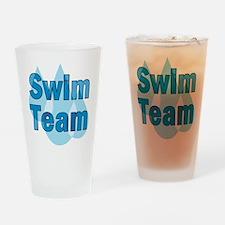 Swim Team Drinking Glass