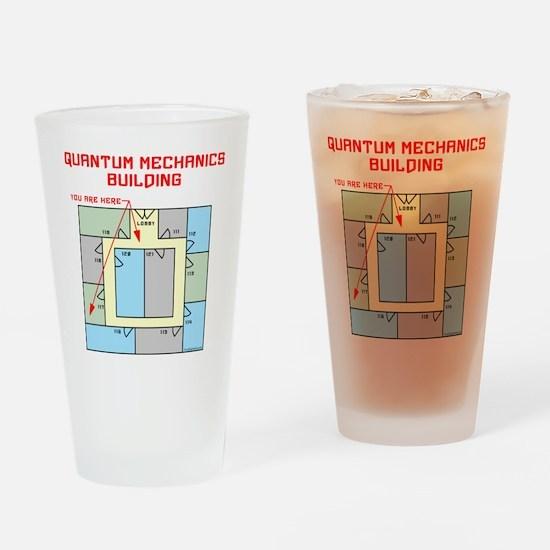 Quantum Mechanics Building Drinking Glass