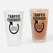 Traffic Engineer Direction Drinking Glass
