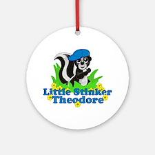 Little Stinker Theodore Ornament (Round)