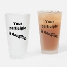 Dangling Participle Drinking Glass