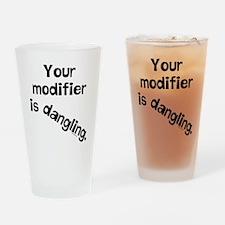 Dangling Modifier Drinking Glass