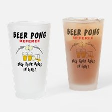 Beer Pong Referee Drinking Glass