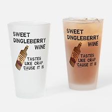 Dingleberry Wine Drinking Glass