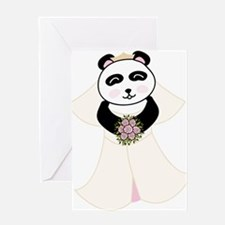 Panda Bride Greeting Card