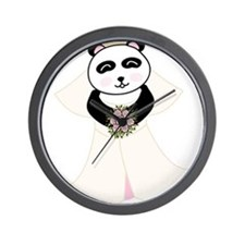 Panda Bride Wall Clock