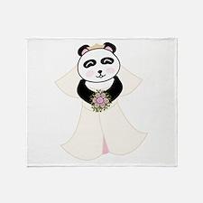 Panda Bride Throw Blanket