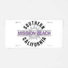 Mission Beach Aluminum License Plate