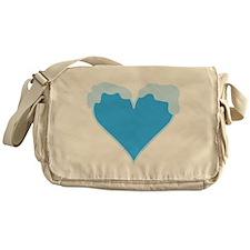 Snow Capped Heart Messenger Bag