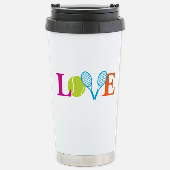 """Love"" Stainless Steel Travel Mug"