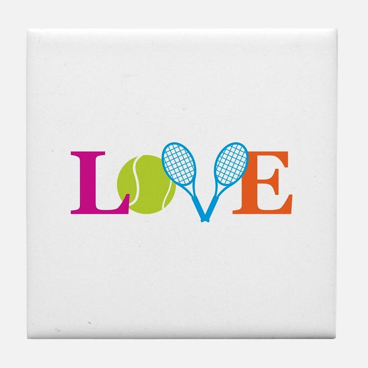 """Love"" Tile Coaster"