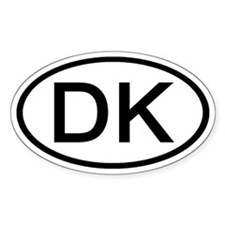 DK - Initial Oval Oval Decal