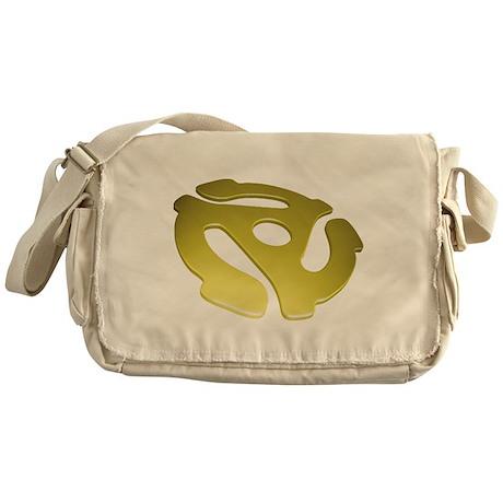 Gold 3D 45 RPM Adapter Canvas Messenger Bag