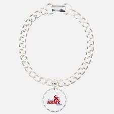 Proud Army Sister - Charm Bracelet, One Charm