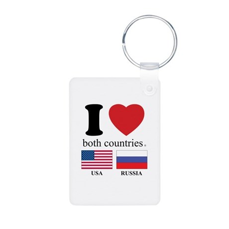 USA-RUSSIA Aluminum Photo Keychain
