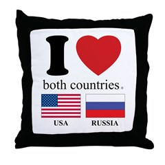 USA-RUSSIA Throw Pillow
