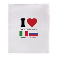 ITALY-RUSSIA Throw Blanket