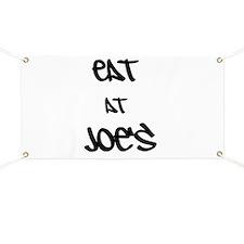 Eat at Joe's (Black Text) Banner