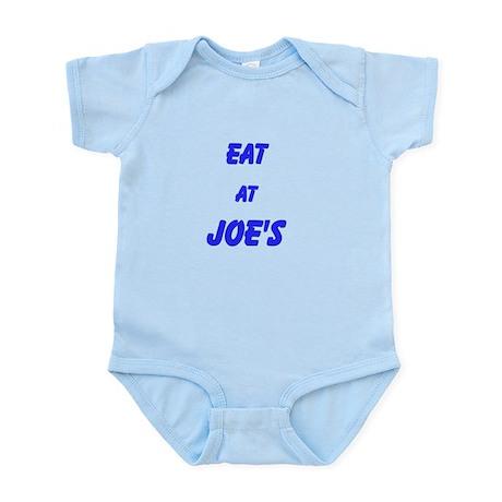 Eat at Joe's (Blue Text) Infant Bodysuit