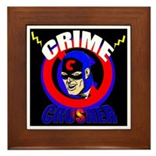 CRIME CRUSHER Framed Tile