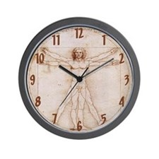 Vitruvian Man Wall Clock