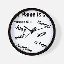 My Name is Joe! Wall Clock