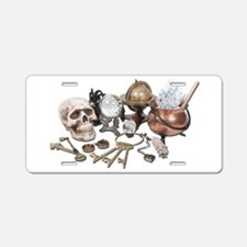 Skull_Keys_Witch_Desk_Items Aluminum License Plate
