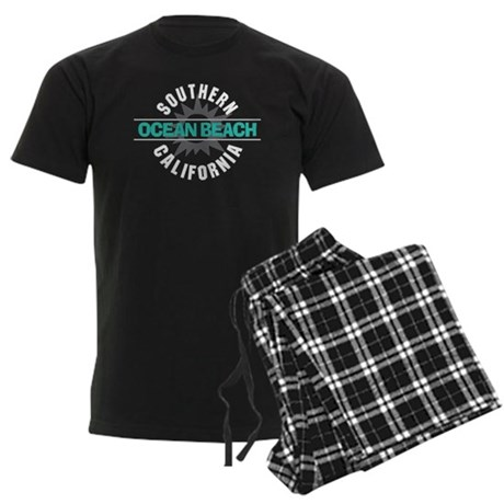 Ocean Beach California Men's Dark Pajamas