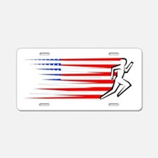 Athletics Runner - USA Aluminum License Plate