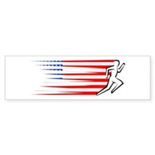Athletics Runner - USA Bumper Sticker