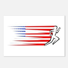 Athletics Runner - USA Postcards (Package of 8)