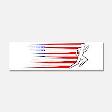 Athletics Runner - USA Car Magnet 10 x 3